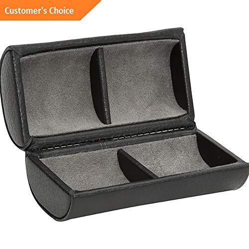 (Sandover WOLF Howard 2 Piece Cufflink Box 3 Colors Travel Organizer NEW | Model LGGG - 9586)
