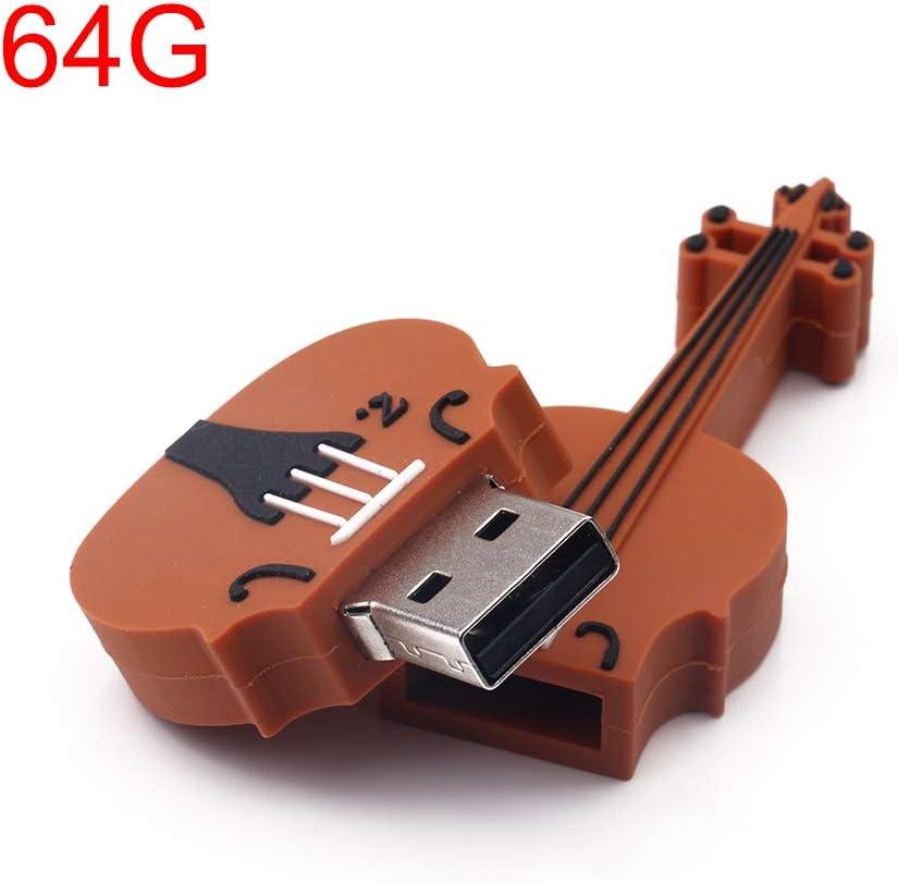 Oliwui High Speed Violin Shape Flash Drive USB2.0 Memory Sitcks Speed Up to 12Mbps USB Drive 16 G USB Drive 2.0