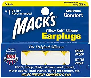product image for Mack's Pillow Soft Earplugs 2 Pair Pack of 4