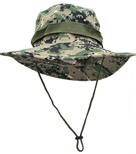 iToolai Unisex Cotton Camouflage Hunting Boonie Fishing Hats (Jungle Digital Camo)