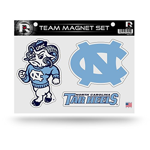 Rico Industries NCAA North Carolina Tar Heels Die Cut Team Magnet Set Sheet