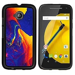 """Be-Star Único Patrón Plástico Duro Fundas Cover Cubre Hard Case Cover Para Motorola Moto E2 / E(2nd gen)( Colorful Splash Espacio"""" )"""