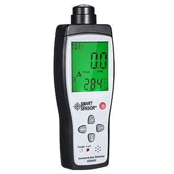 Fesjoy SMART SENSOR Detector de Amoníaco Medidor de gas de Portátil digital Automotriz Monitor de Probador de gas de Detector NH3: Amazon.es: Bricolaje y ...