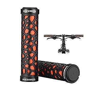 RockBros Bicycle Handlebar Grips MTB BMX Fixed Gear Bike Double Lock-on - Orange