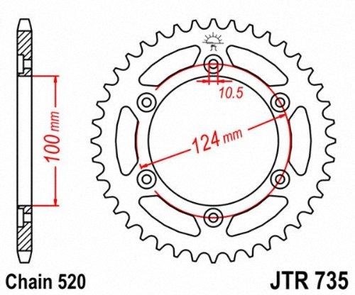 JT Sprockets JTR735.39 39T Steel Rear Sprocket