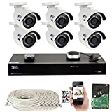 GW 8 Channel H.265 PoE NVR Ultra-HD 4K (3840×2160) Security Camera System with 6 x 4K (8MP) 2160p IP Camera, 100ft Night Vision, Outdoor Indoor Surveillance Camera For Sale