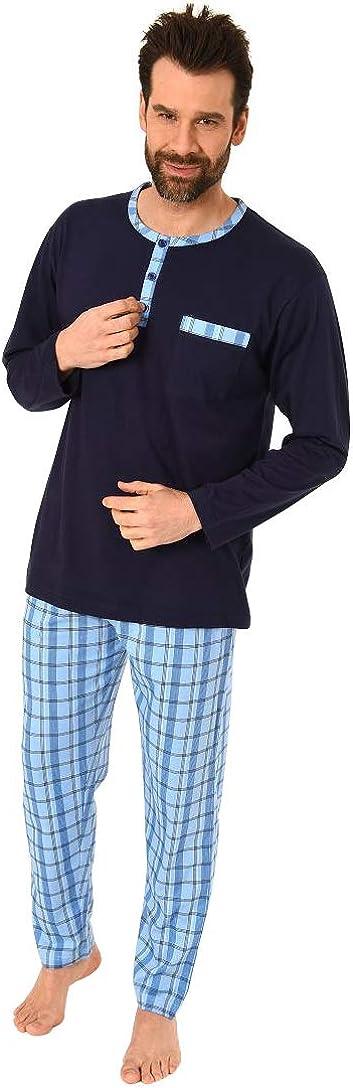 anche in taglie forti Pigiama a maniche corte da uomo in colori classici Normann 181 105 90 007