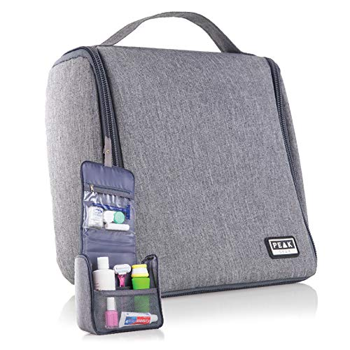 Peak Gear Compact Toiletry Bag – Great Organizer for Travel, Office or Gym