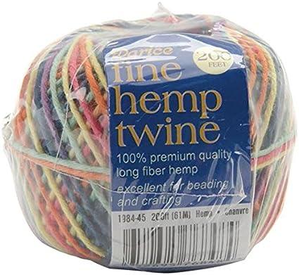 Darice 8 Tons Fine Hemp Cord White