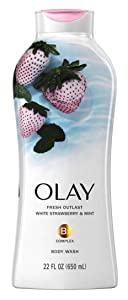 Olay Body Wash Fresh Cooling Strawberry & Mint 22 Ounce (650ml) (3 Pack)