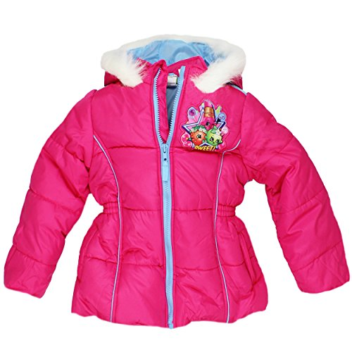 Girls Pink Embroidered Coat - 1
