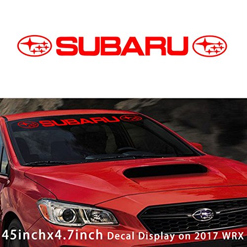 - Kaizen Auto Windshield Sticker Banner Decal Vinyl Rally Window Graphic WRX custom STI Decal Stripe Sticker for Subaru BRZ Baja Brat Justy Impreza Forester Tribeca And Any Other Model (Type 03)