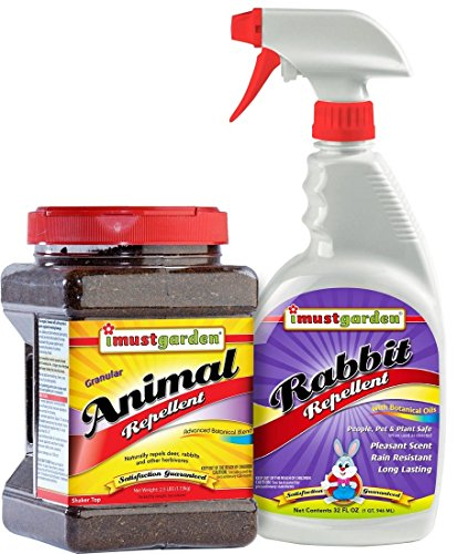 Rabbit Defense, Save money and defeat deer by bundling 2 of our most popular repellents: - 32oz Ready-to-Use Trigger Spray Rabbit Repellent - 2.5lb Granular Animal with Shaker Top