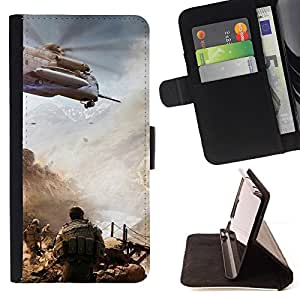 DEVIL CASE - FOR Samsung Galaxy S5 V SM-G900 - Military action () - Style PU Leather Case Wallet Flip Stand Flap Closure Cover