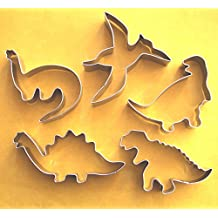 Dinosaur Dino Jurassic Fondant Baking Cookie Cutter Set 5 pcs