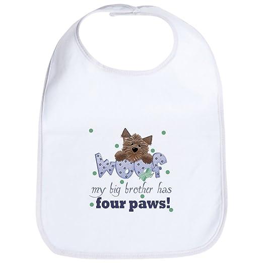 Amazon.com  CafePress - Big Brother Has Four Paws Baby Infant Toddler Bib -  Cute Cloth Baby Bib 99d91671d023