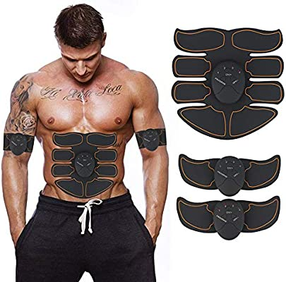 Abs Trainer, EMS Abdominal Muscle Toning Belts Home Workout Fitness