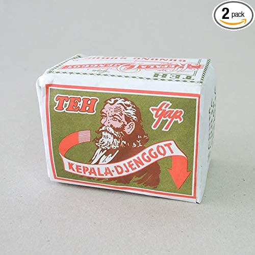 Kepala Djenggot Teh bungkus Hijau - ジャスミンルースティー、40グラム(2パック)