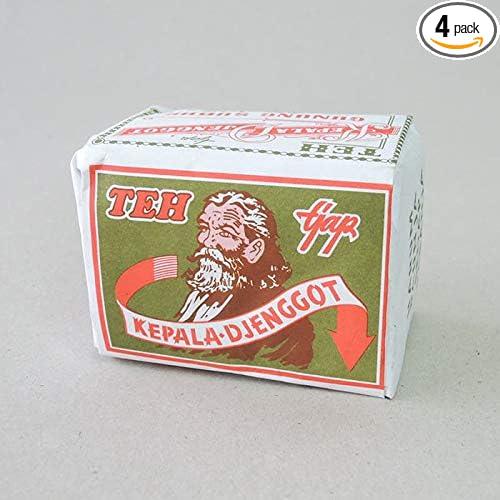 Kepala Djenggot Teh bungkus Hijau - ジャスミンルースティー、40グラム(4パック)
