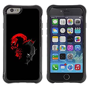 CAZZ Rugged Armor Slim Protection Case Cover Shell // Bat & Villain Superheroes // Apple Iphone 6