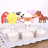 Autumn Water 15pcs Animal Peppaed Pig Birthday Cake Topper Monkey Giraffe Hippo Crocodile Cake Picker Wedding Birthday Party Decorations Kids