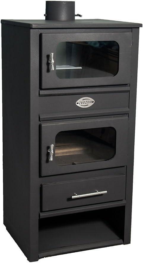 Caldera de leña estufas con horno zvezda, Modelo MF VR 9, salida ...