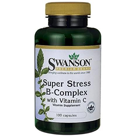 Swanson Super Stress B Complex with Vitamin C, 100 Capsules: Amazon.es: Salud y cuidado personal
