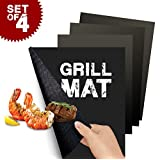 Flamen Heavy Duty Non-Stick BBQ Grill Mat Reusable Durable and Creates Grill Marks Set of 4-pack