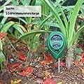 KETOTEK Soil PH Meter, Soil Moisture Meter, Gardening Light Tester 3-in-1 Soil Test Kit for Farm, Patio, Garden, Lawn, Plant and Soil Culture. (Green)