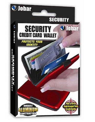 Aluminum Credit Card ID Holder / Wallet, Light Weight - RED
