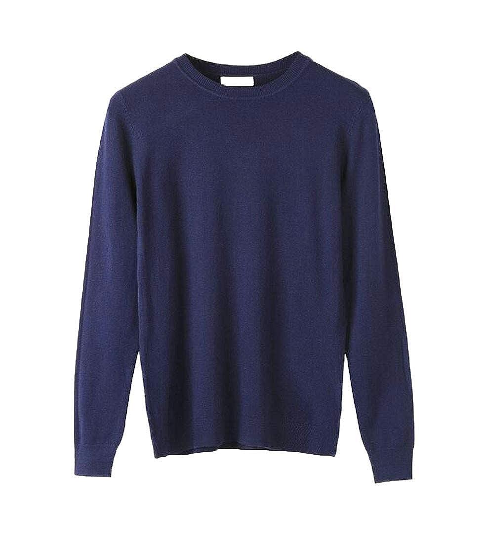 GloryA Mens Pullover Crew Neck Jumper Winter Knit Sweaters