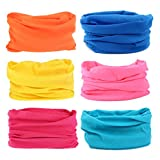 Headwear Women Headband-6PCS Scarf Bandanna yoga Sports Headband,Head Wrap,Balaclava Multifunctional Stretchable Sport Face Mask