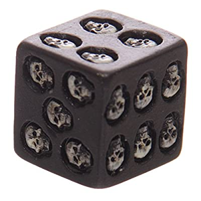 Puckator SK200, Set of 5 Six-Sided Die with Inlaid Skulls: Toys & Games