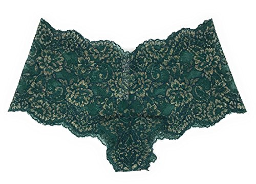 Victoria's Secret Dream Angels Wicked Lace Sexy Shortie Panty Large Dark Green Shimmer