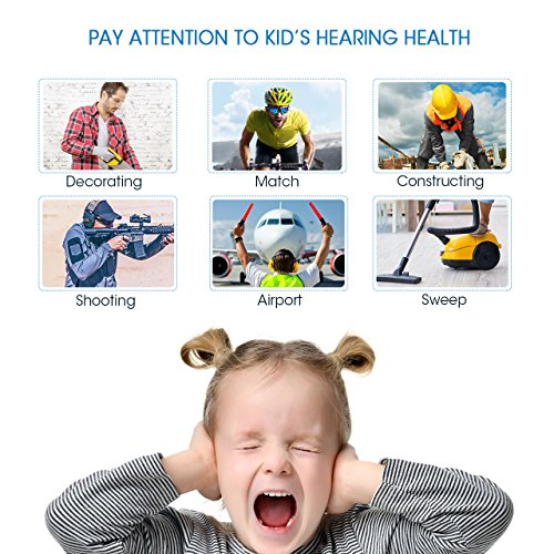 Mpow 068 Kids Ear Protection Safety Ear Muffs, NRR 25dB Noise Reduction Hearing Protection for Kids, Toddler Ear Protection for Shooting Range Hunting Season for Kids Toddlers Children (White) by Mpow (Image #2)