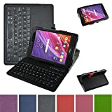ZenPad Z8 / ZenPad 3 8.0 Bluetooth Keyboard Case,Mama Mouth Slim Stand PU Leather Cover with Romovable Bluetooth Keyboard for 7.9'' Asus ZenPad 3 8.0 Z581KL / Z8 zt581kl Verizon 4G Let Tablet,Black