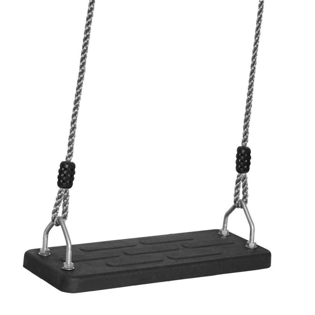 子供用ブランコ 屋内 ブランコ 椅子 パズル クレードル おもちゃ アウトドア スイングチェア 大人用 スイング 最高のギフト ゴム 滑り止め スイング荷重 150kg 19*45cm ブラック B07LCVC22V ブラック 19*45cm