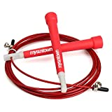 mysuntown Jump Rope Crossfit Adjustable Speed Skipping Rope - Best for Fitness Jumping Rope Workout(Red)
