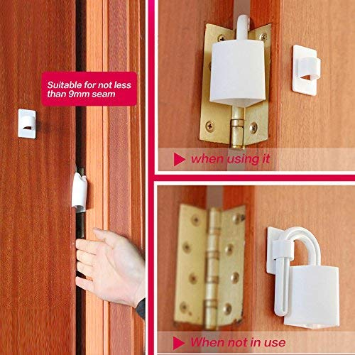 Zerodis 2pcs Door Stopper Baby Safety Finger Pinch Guard Child Proofing Home Shield for Rear Side of Door Prevent Door Related Injuries