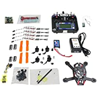 QWinOut DIY FPV Drone :H150 Mini Racing Drone + Brushless Motor + 16A ESC NO BEC + Flysky 6CH Transmitter + 1000MAH Battery