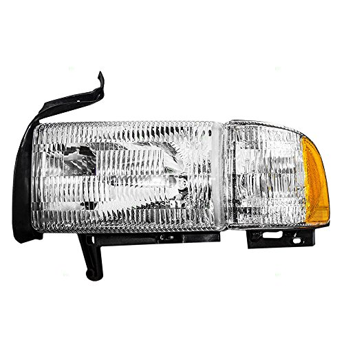 Drivers Headlight Headlamp with Corner Lamp Replacement for Dodge Pickup Truck 55076749AD