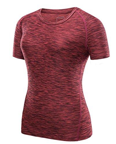 Camisas Camisetas Corta Rápido De Y Red Uso Manga Lemongirl Mujer Para Secado Diario Deportes Iw5fx4Wqn0