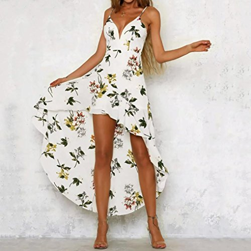 Femme femme Retro Robe imprim d't longue Robe Maxi Blanc robe Boho Robe GreatestPAK Midi Elegant Swing Mini de Vintage floral plage Sexy Awnxqdxg7