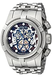 Invicta Men's 13748 Reserve Bolt Chronograph Perforated Dial Stainless Steel Watch