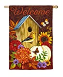 Evergreen Autumn Birdhouse Suede House Flag, 29 x 43 inches Review