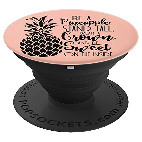 Sassy Southern Charm & Grace Cute Pineapple Lettering on Pink PopSockets Stand for Smartphones and T - PopSockets Grip and Stand for Phones and Tablets