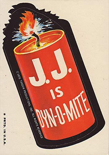 J.J is Dyn-O-Mite Vintage Decal Sticker Souvenir Skateboard Laptop