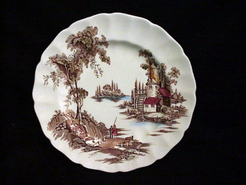 Johnson Brothers Mill - JOHNSON BROTHERS DINNER PLATE OLD MILL, THE (BROWN/MULTI)