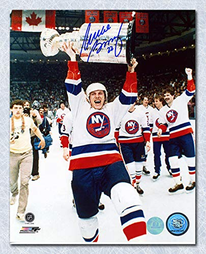 AJ Sports World Mike Bossy New York Islanders Autographed Stanley Cup 8x10 Photo