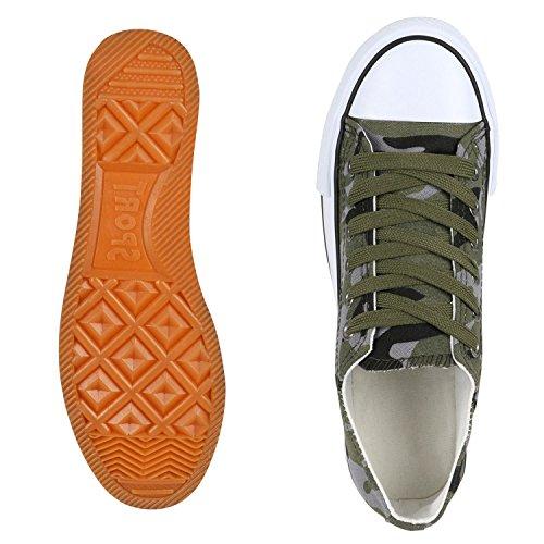 Damen Sneaker Übergrößen Unisex Turnschuhe Camouflage Herren Jennika Blumen fashion napoli Glitzer Schuhe Freizeitschuhe Basic Low Stoffschuhe Metallic qw0EgxI